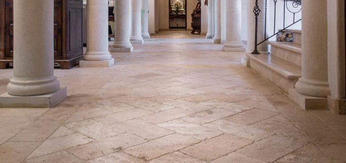 clean travertine stone