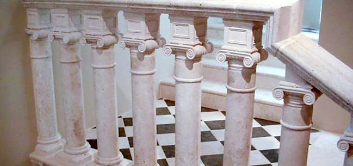 architectural stone balustrade