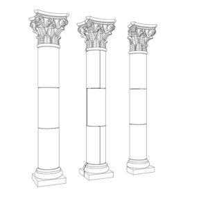 Corinthian Straight Column