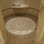 Custom Shower Floor with Sicis Mosaic Rug