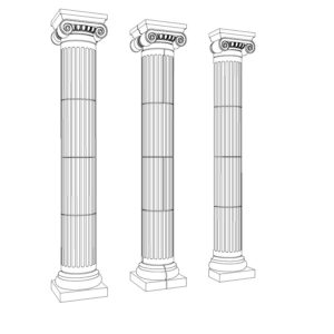 Ionic Fluted Columns