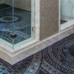 Custom Shower Featuring Sicis Glass Mosaic