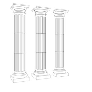 Tuscan Fluted Columns