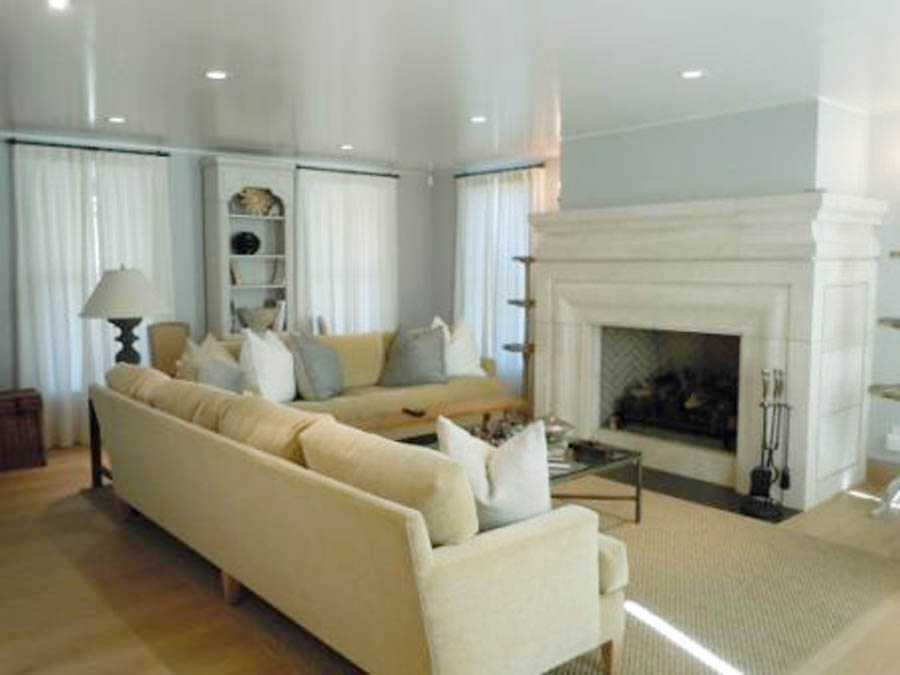 Modified Fireplace #107 in Riviera Beige Honed