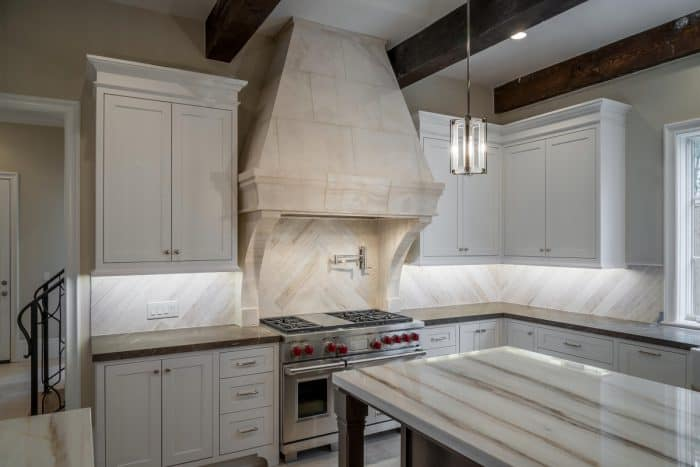 Kitchen with natural stone details