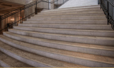 Wide stone staircase