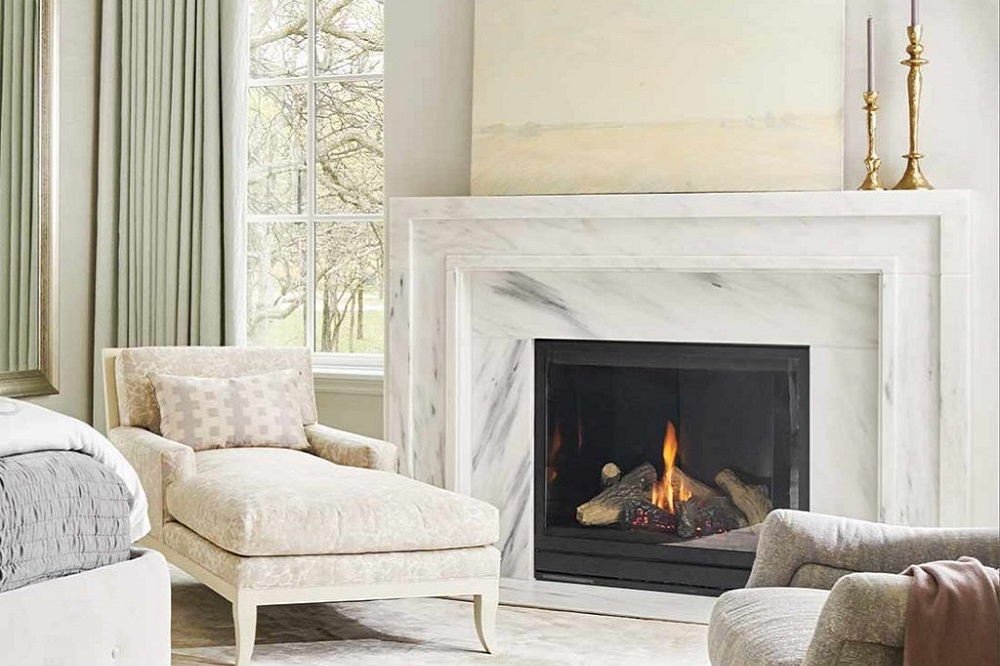 Danby marble fireplace